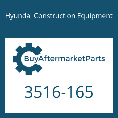 Hyundai Construction Equipment 3516-165 - SLEEVE