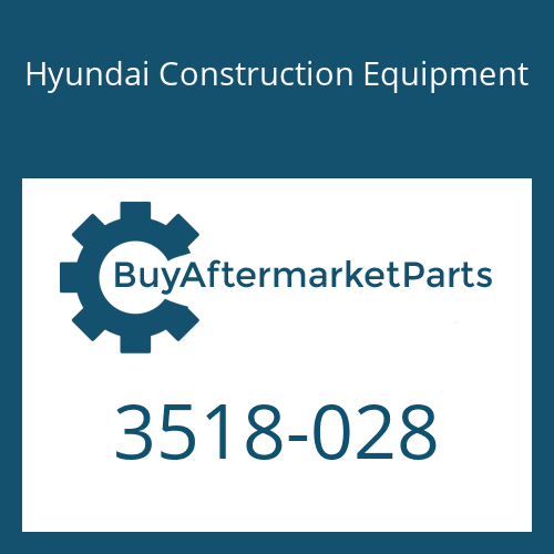 Hyundai Construction Equipment 3518-028 - ORIFICE