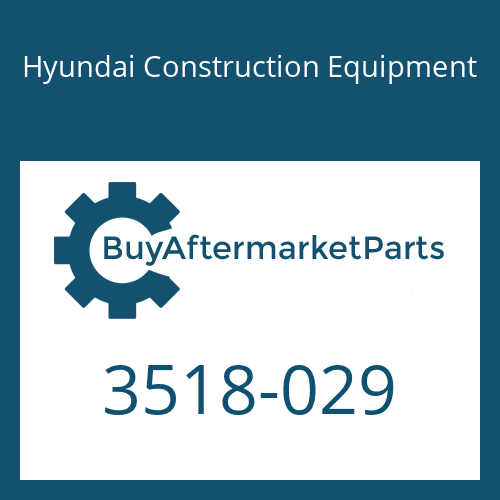 Hyundai Construction Equipment 3518-029 - ORIFICE