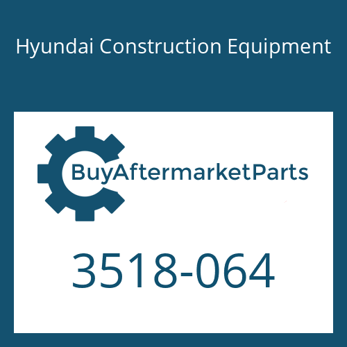 Hyundai Construction Equipment 3518-064 - ORIFICE