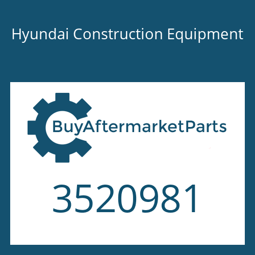 Hyundai Construction Equipment 3520981 - PLATE-CLAMPING