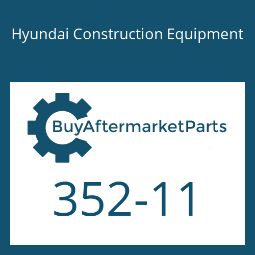 Hyundai Construction Equipment 352-11 - RING-BACK UP