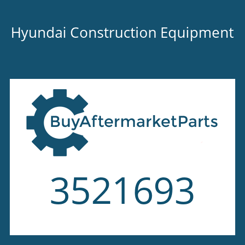 Hyundai Construction Equipment 3521693 - HOUSING