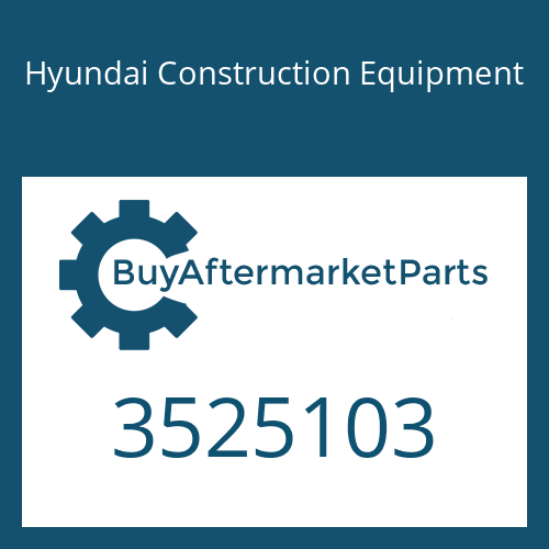Hyundai Construction Equipment 3525103 - TURBOCHARGER