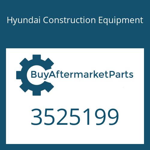 Hyundai Construction Equipment 3525199 - HOUSING