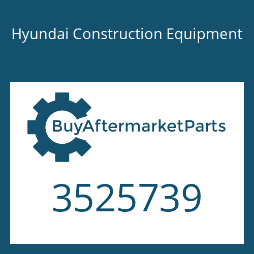 Hyundai Construction Equipment 3525739 - BEARING-TUR THRUST