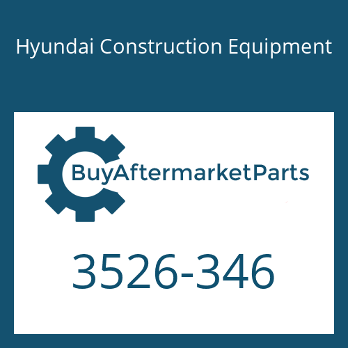 Hyundai Construction Equipment 3526-346 - PLUNGER