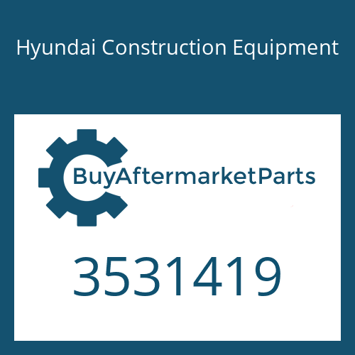 Hyundai Construction Equipment 3531419 - BEARING