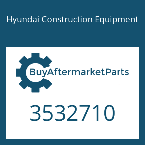 Hyundai Construction Equipment 3532710 - HOUSING