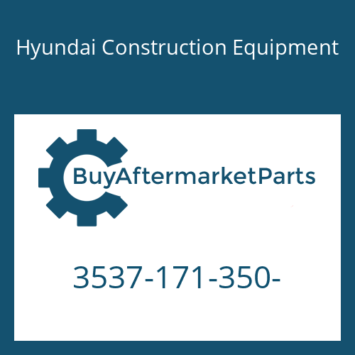 Hyundai Construction Equipment 3537-171-350- - RELIEF-PORT
