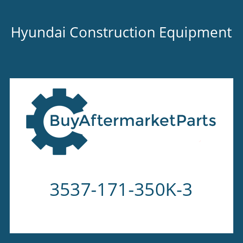 Hyundai Construction Equipment 3537-171-350K-3 - PORT RELIEF V/V