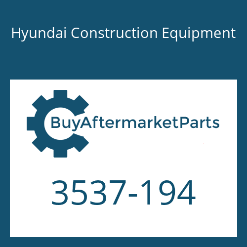 Hyundai Construction Equipment 3537-194 - RELIEF VALVE ASSY
