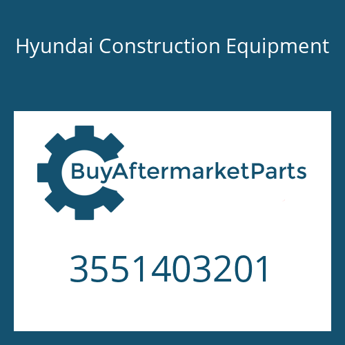 Hyundai Construction Equipment 3551403201 - SPACER