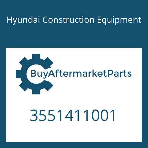 Hyundai Construction Equipment 3551411001 - PLATE-COVER