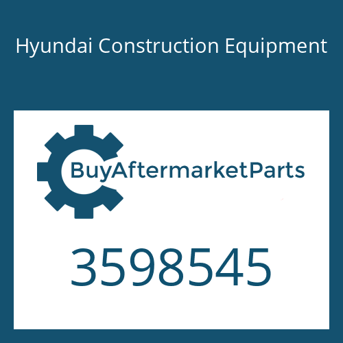 Hyundai Construction Equipment 3598545 - TURBOCHARGER