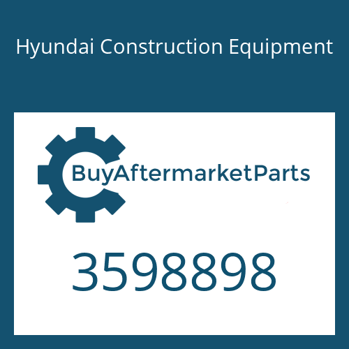 Hyundai Construction Equipment 3598898 - TURBOCHARGER