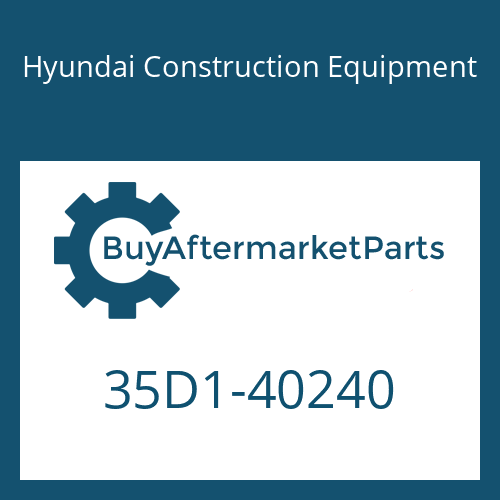 Hyundai Construction Equipment 35D1-40240 - BOSS