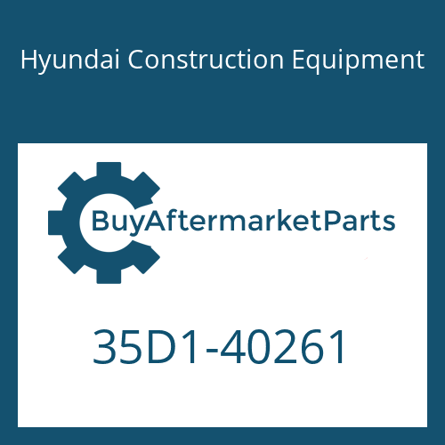 Hyundai Construction Equipment 35D1-40261 - BRACKET WA