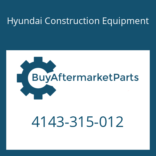 Hyundai Construction Equipment 4143-315-012 - DISC-STEEL
