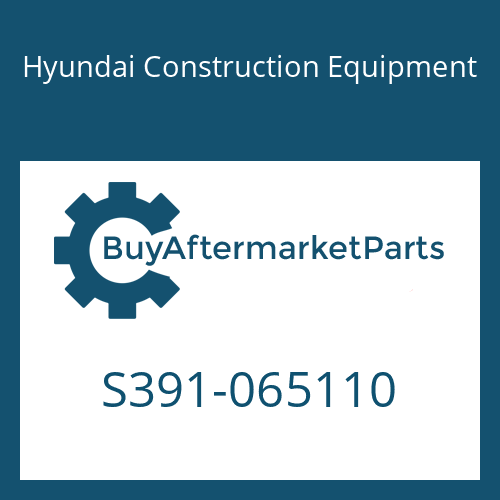 Hyundai Construction Equipment S391-065110 - SHIM-ROUND 1.0