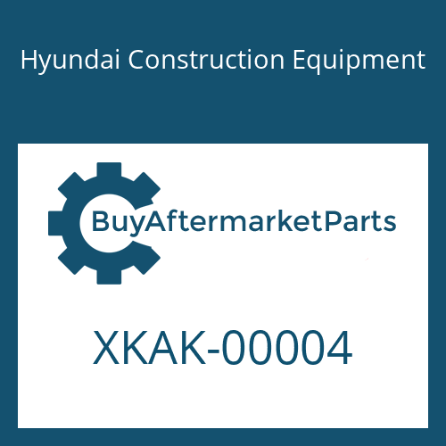 Hyundai Construction Equipment XKAK-00004 - PLUG