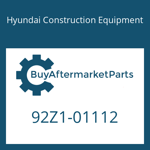 Hyundai Construction Equipment 92Z1-01112 - DECAL-TURBO COVER
