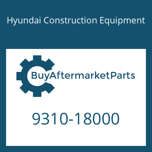 Hyundai Construction Equipment 9310-18000 - WASHER-SPRING