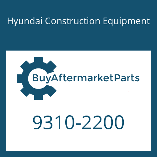 Hyundai Construction Equipment 9310-2200 - (To.S411-220002)