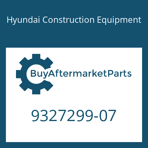 Hyundai Construction Equipment 9327299-07 - BOLT