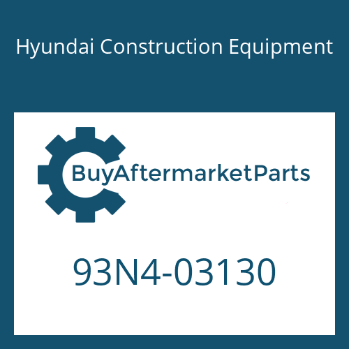 Hyundai Construction Equipment 93N4-03130 - DECAL-LIFT CHART