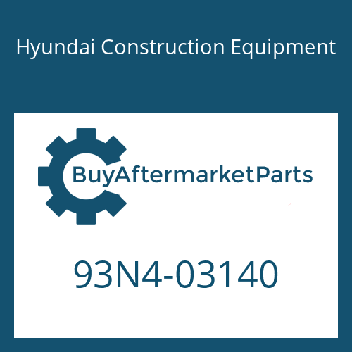Hyundai Construction Equipment 93N4-03140 - DECAL-LIFT CHART