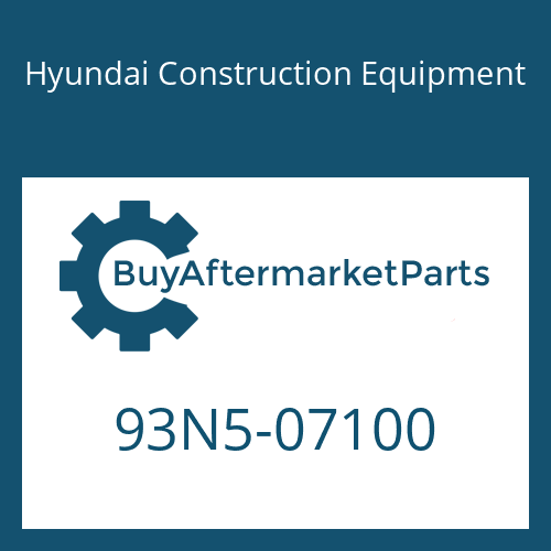 Hyundai Construction Equipment 93N5-07100 - DECAL KIT-LIFT CHART