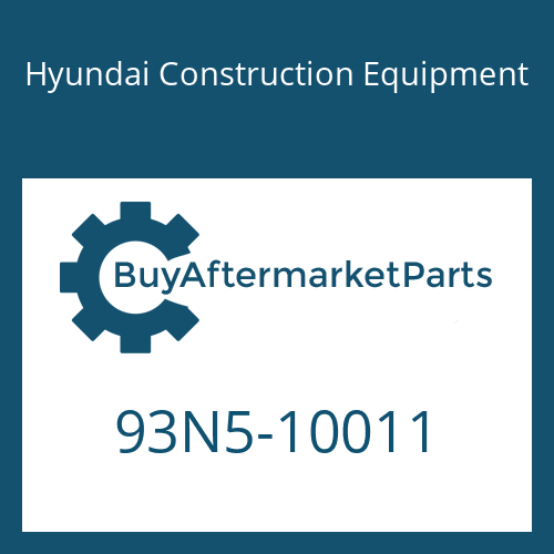 Hyundai Construction Equipment 93N5-10011 - DECAL-MODEL NAME