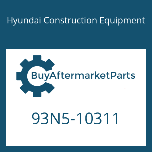 Hyundai Construction Equipment 93N5-10311 - DECAL-MODEL NAME