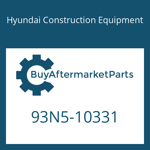 Hyundai Construction Equipment 93N5-10331 - DECAL-MODEL NAME