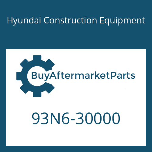 Hyundai Construction Equipment 93N6-30000 - PARTS MANUAL