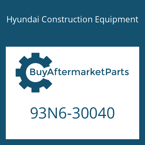 Hyundai Construction Equipment 93N6-30040 - MANUAL-OPERATOR