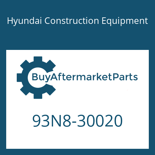 Hyundai Construction Equipment 93N8-30020 - SERVICE MANUAL