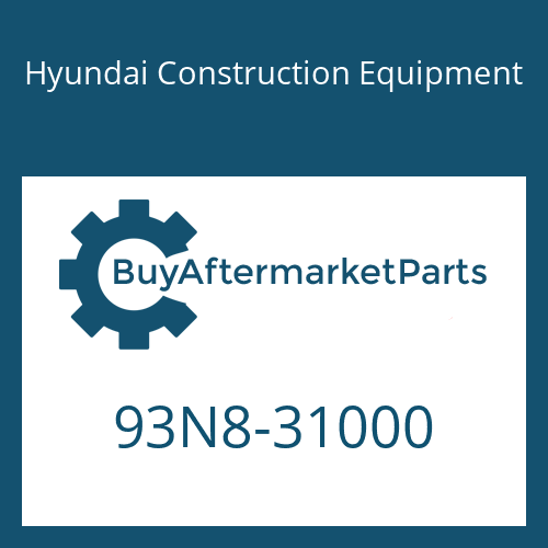 Hyundai Construction Equipment 93N8-31000 - PARTS MANUAL