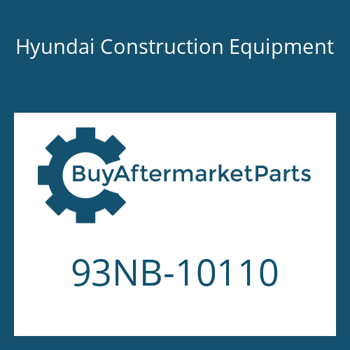 Hyundai Construction Equipment 93NB-10110 - MODEL NAME-LH/REAR