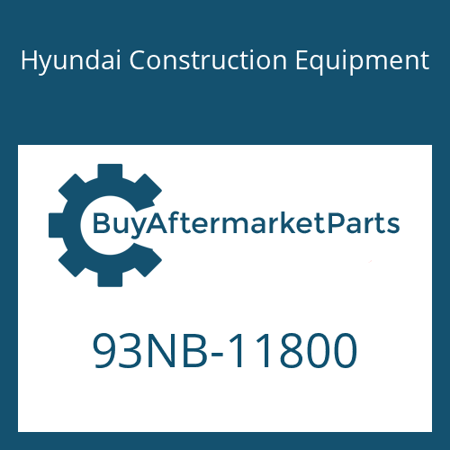 Hyundai Construction Equipment 93NB-11800 - DECAL-SERVICE,EMISS