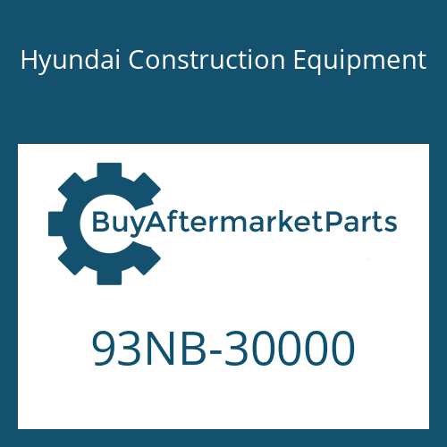 Hyundai Construction Equipment 93NB-30000 - PARTS MANUAL