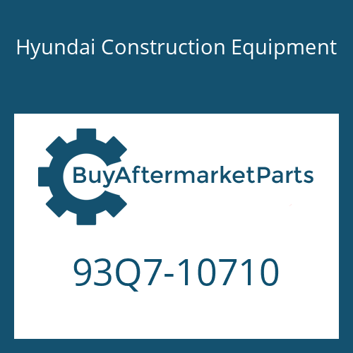 Hyundai Construction Equipment 93Q7-10710 - DECAL-SERVICE INSTRUCTION