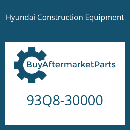 Hyundai Construction Equipment 93Q8-30000 - PARTS MANUAL
