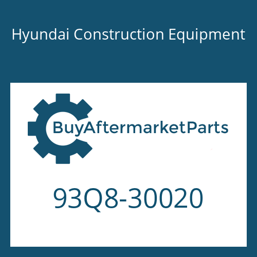 Hyundai Construction Equipment 93Q8-30020 - SERVICE MANUAL