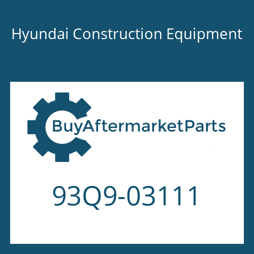Hyundai Construction Equipment 93Q9-03111 - LIFTING CHART