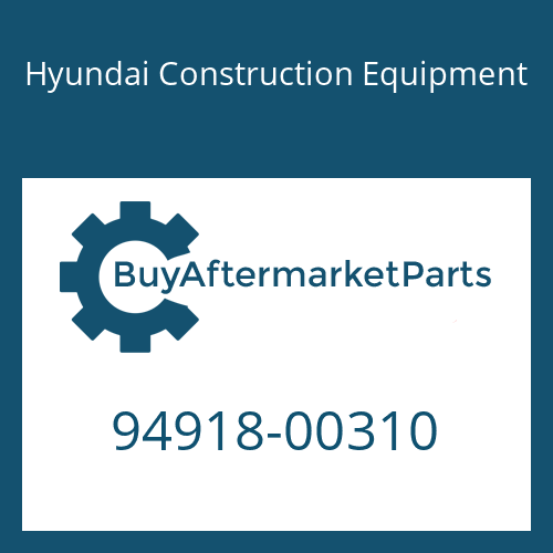 Hyundai Construction Equipment 94918-00310 - SCREW-HOLLOW