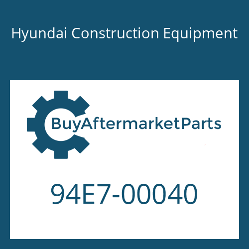 Hyundai Construction Equipment 94E7-00040 - DECAL-NUMBER PLATE