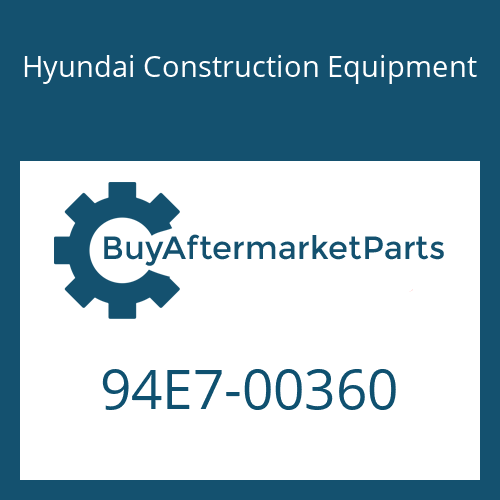 Hyundai Construction Equipment 94E7-00360 - DECAL MODEL NAME