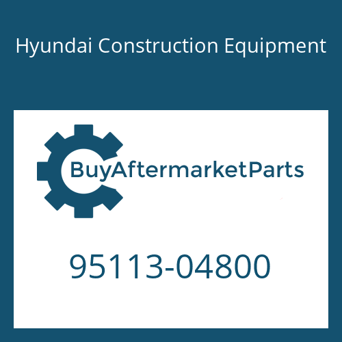 Hyundai Construction Equipment 95113-04800 - O-RING